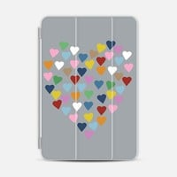 Hearts Heart on Grey iPad Mini 1/2/3 case by Project M   Casetify