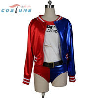 Batman Joker Suicide Squad Harley Quinn Uniform Outfit Glove Full Set Movie Halloween Cosplay Costumes For Women