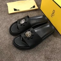 Fendi Men's Leather Sandals