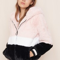 Hooded Furry Jacket