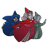 Disney's Sleeping Beauty Movie Three Good Fairies Fiora, Fauna, and Merryweather Embroidered Patch (3 inches tall by 4 inches wide)