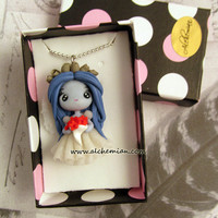 tim burton's corpse bride ooak necklace made in italy
