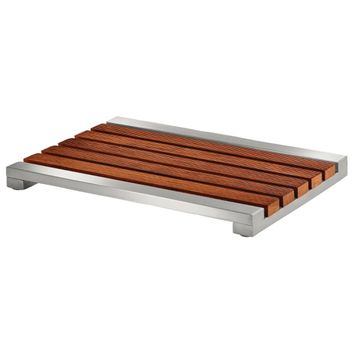 Conair The Brooklyn Collection Shower Mat (teak And Stainless Steel)