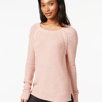 Maison Jules Cable-Knit Raglan Sweater, Only at Macy's