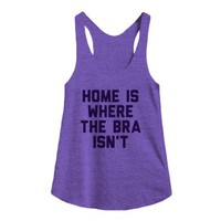 Home is Where the Bra Isn't-Female Tri Orchid Tank