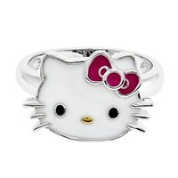 Hello Kitty Ring in Sterling Silver - Sterling Silver Rings - Rings - Jewelry - Helzberg Diamonds