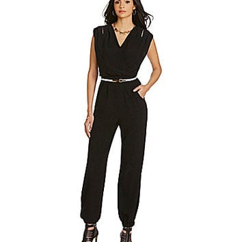 Gibson & Latimer Wrap-Front Jumpsuit - Black