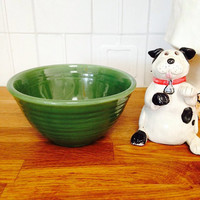 Bauer Ringware Bowl number 36 Green Bauer Bowl | Bauer Nesting Bowl in Green