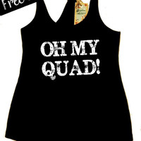 Oh My Quad! Women's Clothing. Fitness Tank Top. Crossfit Tank. Workout Tank. Running Tank. Gym Clothing. Activewear. Free Shipping USA
