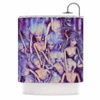 "AlyZen Moonshadow ""WILD THINGS"" Purple Barbie Shower Curtain"
