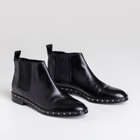 Studded Chelsea Boot - Black Leather - Final Sale