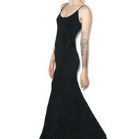 Rise of Dawn Take Me Backless Maxi Dress Black