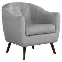 Accent Chair - Grey Mosaic Velvet