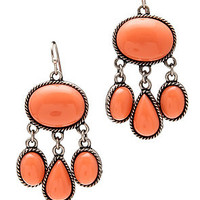*MKL Accessories The Festival Stone Earrings in Coral : Karmaloop.com - Global Concrete Culture