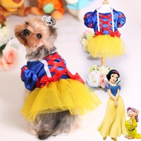 Clothes for dogs Pet Dog Dress for Chihuahua Yorkies Classic White Snow Princess Lace Wedding Dresses Clothing for Small Dogs 30