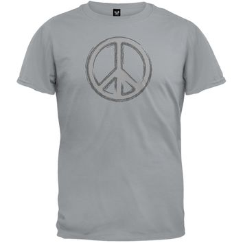 Peace Sign Grey T-Shirt