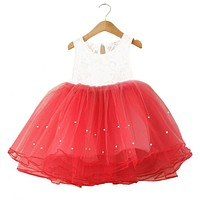 2-7Years Summer vestidos infantis Baby Dresses For Girl Party Dress Toddlers Tulle Princess Tutu Baptism Dresses Christmas