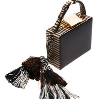 Square Tassel Box Clutch