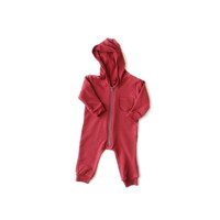 Oversized Fleece Jumpsuit Nova Red