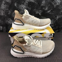 Adidas Ultra Boost 2019 UB 5.0 White Brown Sport Running Shoes - Best Online Sale