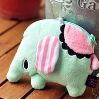 Lovely Circus Elephant Pattern Pouch [1310]