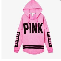 Pink Long Sleeve Hoodies Hot Sale Pink Hats [103285555215]