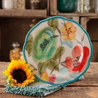 "The Pioneer Woman Vintage Bloom 8.5"" Decorated Salad Plate, Set of 4 - Walmart.com"