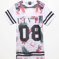 Civil 08 Floral Jersey - Mens Tee - White