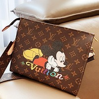 Louis Vuitton LV x Disney Trending Women Mickey Mouse Print Shoulder Bag Crossbody Satchel