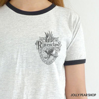 Ravenclaw Shirts Harry Potter Shirts House Sigil Symbol Pocket Tee Tshirt Cute Fandom Gift Clothing
