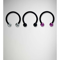 16 Gauge Pink, Black, and Clear Horseshoe 4 Pk