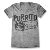 Purrito T-Shirt - Grey