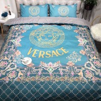 VERSACE Printed Blanket Quilt coverlet Pillow shams 3 PC Bedding SET