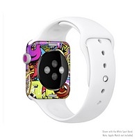 The Vibrant Colored Vector Graffiti Full-Body Skin Kit for the Apple Watch