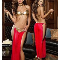 Sexy Hot Deal Cute On Sale Lace Set Split See Through Exotic Lingerie [6595647747]