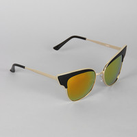 Butterfly Wing Wire Rimmed Sunglasses