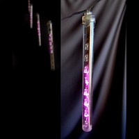 BLOWOUT Battery Operated LED Meteor Snowfall Light Tubes - Pink