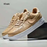 NIKE AIR FORCE 1 classic men's and women's casual sports shoes khaki