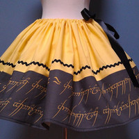 Lord Of The Rings, Hobbit Skirt, Geek Skirt, Cosplay, Full Skirt, Plus Size, All Sizes, Mini Skirt, CUTE