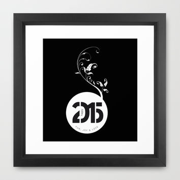 Happy New Year 2015 Framed Art Print by LilaVert