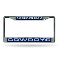 Dallas Cowboys NFL Chrome Laser Cut License Plate Frame