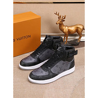 lv louis vuitton men fashion boots fashionable casual leather breathable sneakers running shoes 760
