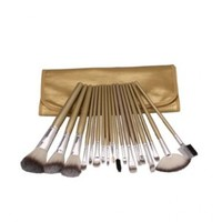 18pcs Golden Professional Cosmetic Makeup Make up Brush Brushes Set Kit with Case Bag Pouch