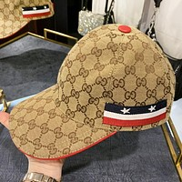 GUCCI New fashion embroidery more letter cap hat Khaki