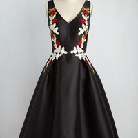 Ladies and Diligence Floral Dress in Red Petals | Mod Retro Vintage Dresses | ModCloth.com