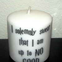 Harry Potter Quote Candle
