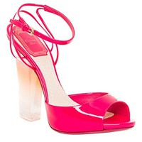Christian Dior Patent Reflect Plexi Sandals