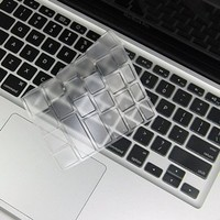 """Steklo - CLEAR Keyboard Cover Silicone Skin for MacBook Pro 13"""", 15"""", 17"""" with or w/out Retina Display / MacBook Air 13"""" / iMac Wireless Keyboard"""