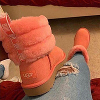 UGG Girls Casual Half Boots Trending Shoes Pink