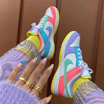 """Nike SB Dunk Low GS""""Easter"""" Low rise casual skateboarding shoes"""